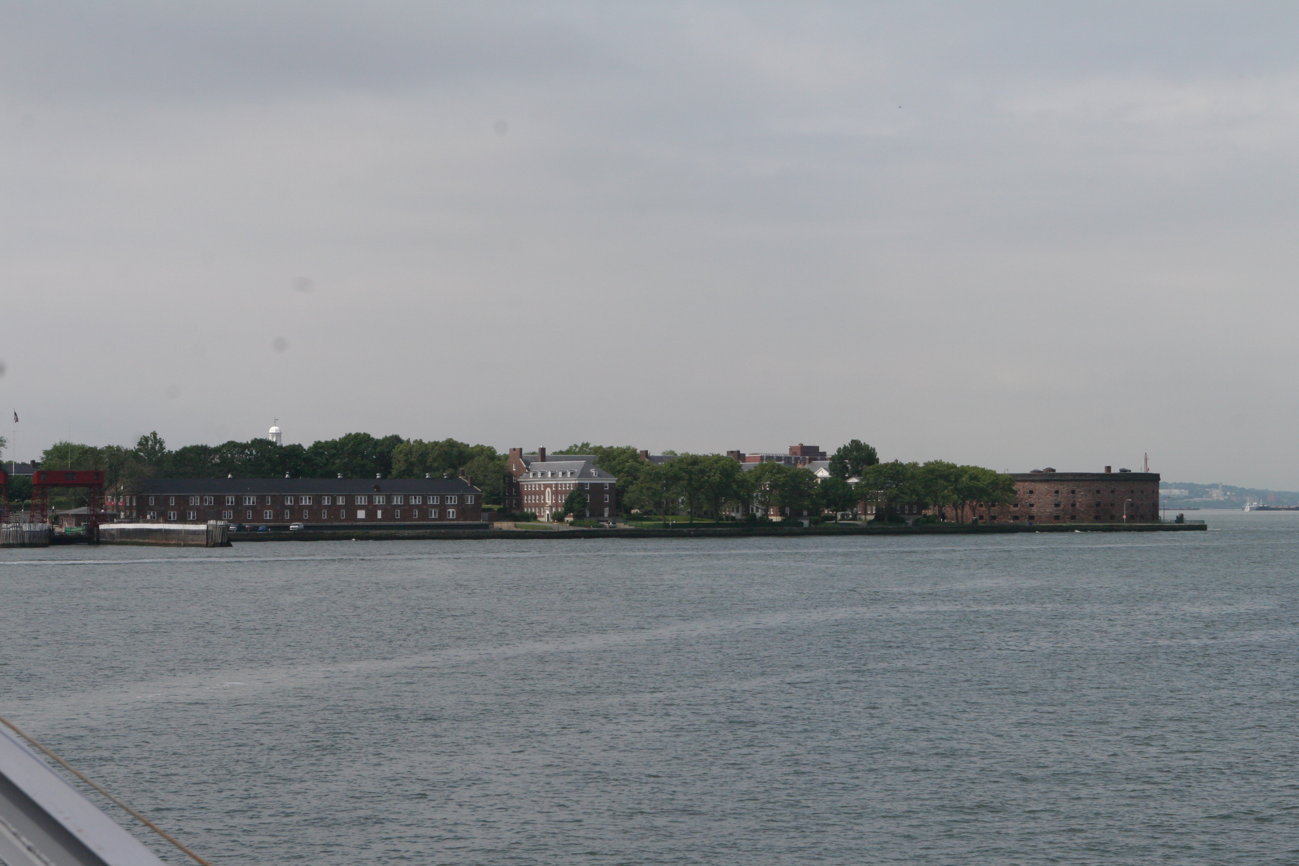 Governors Island from the Manhattan Ferry